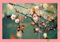 Tranh hoa đào đẹp treo phòng ngủ nhỏ AmiA 301