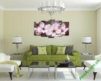 Tranh hoa đào đẹp ghép bộ nghệ thuật AmiA 332