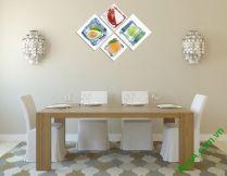 Tranh treo phòng ăn đẹp hoa quả tươi ngon AmiA 331