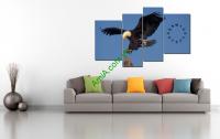 Tranh chim đại bàng đẹp và dũng mãnh uy phong AmiA 203