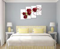 Tranh hoa hồng ghép bộ đẹp, lãng mạn và trẻ trung