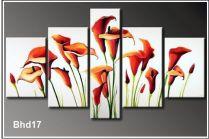 TSD 109 - Tranh sơn dầu hoa Zum ghép bộ