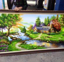 TSD123 - Tranh sơn dầu phong cảnh đẹp và thanh bình