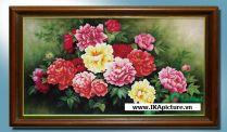 TSD 209 - Tranh sơn dầu hoa mẫu đơn đẹp