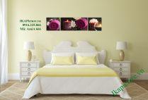 Tranh spa hoa nến treo phòng ngủ đẹp AmiA 666