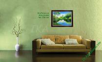 TSD160 - Tranh phong cảnh hồ sen trắng vẽ sơn dầu