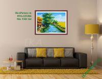 TSD 164 - Tranh phong cảnh làng quê vẽ sơn dầu