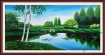 TSD 177 - Tranh phong cảnh thiên nhiên yên tĩnh vẽ sơn dầu