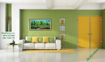 TSD 178 - Tranh phong cảnh vẽ sơn dầu công viên cây xanh