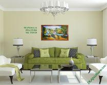 TSD 104 - Tranh sơn dầu phong cảnh làng quê việt nam