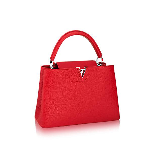 Túi xách LV Capucines MM đỏ