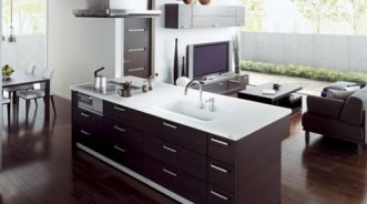 Giải pháp nhà bếp mở cho nhà nhỏ