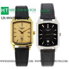 Đồng hồ Longines nữ 803L cao cấp mạ vàng dây da