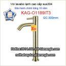 Vòi lavabo đặt bàn ống trúc sus 304 KAG-O1189I3
