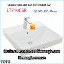Chậu rửa lavabo vuông đặt bàn TOTO LT710CSR