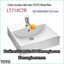 Chậu rửa lavabo vuông đặt bàn TOTO LT710CTR
