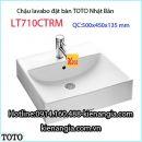 Lavabo vuông đặt bàn TOTO  LT710CTRM