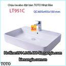 Lavabo vuông đặt bàn TOTO LT951C
