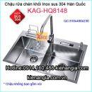 Chậu rửa chén Korea inox sus304 đúc KAG-HQ8148