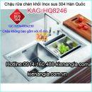 Chậu rửa chén Korea inox sus304 đúc KAG-HQ8246
