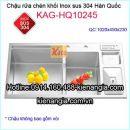 Chậu rửa chén inox 304 đúc nhập khẩu KAG-HQ10245