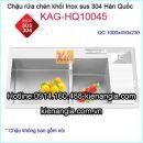 Chậu rửa chén inox 304 đúc Korea KAG-HQ10045