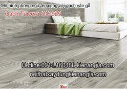 Gạch vân gỗ Taicera ốp lát phòng ngủ