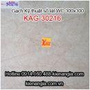 Gạch men kỹ thuật số lát WC 30X30 KAG-30216