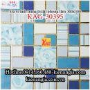Đá vi tinh mosaic 30x30 trang trí lát WCKAG-30395