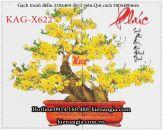 Gạch tranh hoa mai bon sai bộ 2 viên 250x400 KAG-X622
