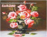 Gạch tranh hoa hồng bộ 2 viên 250x400 KAG-X629