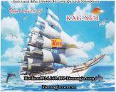 Gạch tranh Thuận buồm xuôi gió bộ 2 viên 250x400 KAG-X631