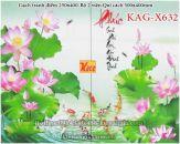 Gạch tranh hoa sen bộ 2 viên 250x400 KAG-X632