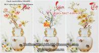 Gạch tranh Phúc Lộc Thọ bộ 3 viên 250x400 KAG-X617-618-619