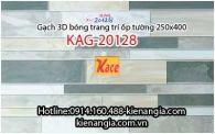 Gạch 3D bóng trang trí ốp tường 250x400 KAG-20128