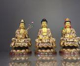 Bộ tượng Tây Phương Tam Thánh ngồi
