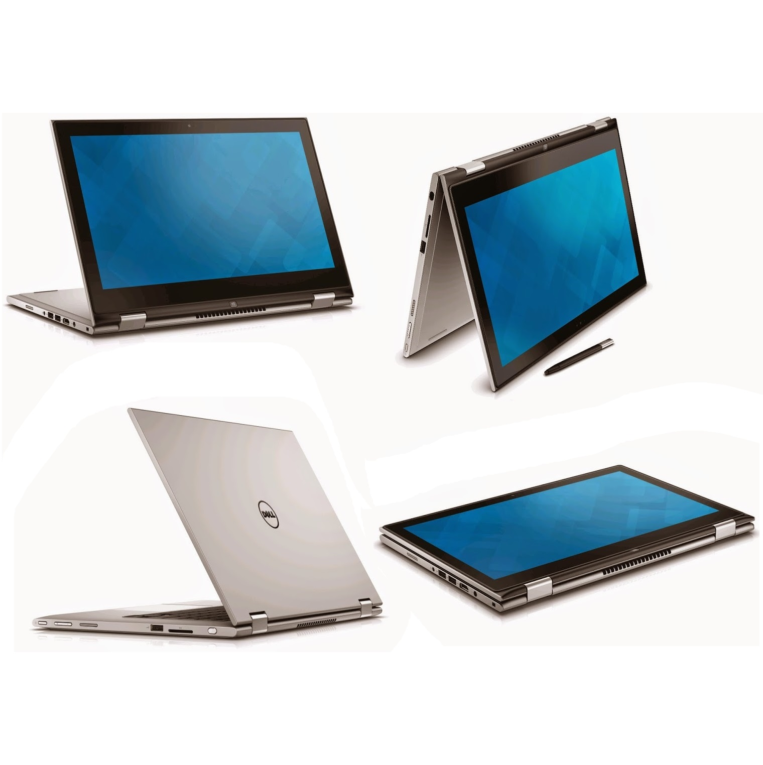 """DELL INSPIRON  N7348- C3I55003W(Silver) - I5(5200U)/ 8G/ 500G/ No DVD/ 13.3"""" Flip/ Led Key/ Touch/ Win 10"""