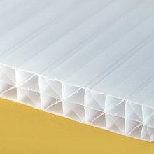 Tấm lợp polycarbonate màu trắng sữa rống ruột (White)