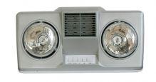 Đèn sưởi nhà tắm treo tường Hans 2 bóng có quạt gió H2B-HW