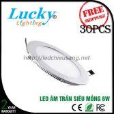 Đèn LED downlight âm trần 6W tròn siêu mỏng