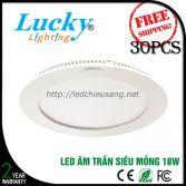 Đèn LED downlight âm trần 18w tròn siêu mỏng