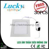 Đèn LED downlight âm trần 3w vuông siêu mỏng