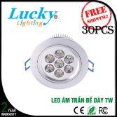 Đèn LED downlight đế dày 7W