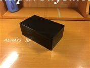 Hộp nhựa 200x120x75 màu đen không tai