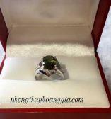 Nhẫn Nữ Đá Sapphire Mầu Xanh Chuối Víp MSP:0024