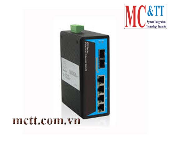 Switch công nghiệp 4 cổng Ethernet + 2 cổng quang SFP 3onedata IES206-2GS