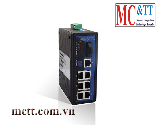 Switch công nghiệp 7 cổng Ethernet + 1 cổng quang 3Onedata IES308-1F
