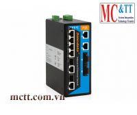 Switch công nghiệp quản lý 8 cổng PoE Ethernet + 2 cổng Gigabit combo SFP nguồn cấp 24VDC