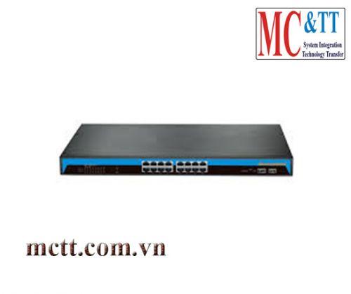 Switch quản lý 16 cổng Gigabit PoE Ethernet + 2 cổng SFP 3Onedata ES5018G-2GS-16POE-300W-P(220VAC)