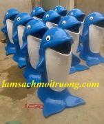 Thùng rác con cá Heo